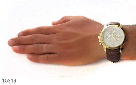 ساعت بند چرمی رمانسون ست Romanson دورطلائی صفحه سفید - تصویر 6