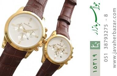 ساعت بند چرمی رمانسون ست Romanson دورطلائی صفحه سفید - کد 15319
