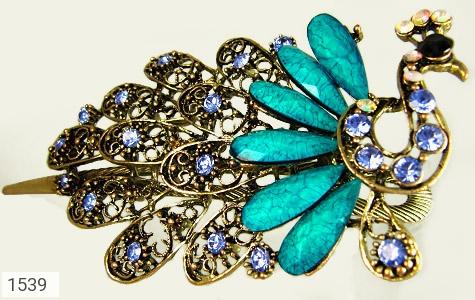 گل سر درشت طرح طاووس زنانه - عکس 1