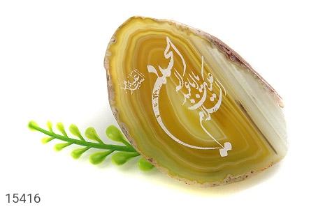 نگین تک عقیق حکاکی السلام علیک یا اباعبدالله الحسین - تصویر 4