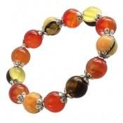 دستبند کهربا پودری زیبا و خوش رنگ زنانه