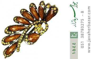 گل سر پر نگین درشت زنانه - کد 1544