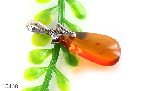 مدال کهربا بولونی لهستان عسلی رنگ - تصویر 4