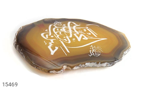 نگین تک عقیق حکاکی صلی الله علیک یا ایها حسن بن علی المجتبی علیه السلام - تصویر 2