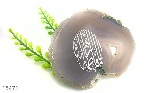 نگین تک عقیق حکاکی یا فاطمه الزهرا - تصویر 4