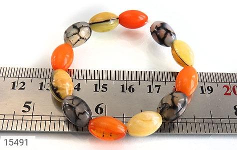 دستبند عقیق و کهربا پودری زنانه - تصویر 4