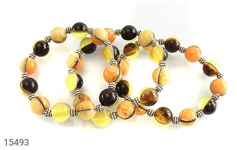 دستبند کهربا پودری خوش رنگ زنانه - عکس 3
