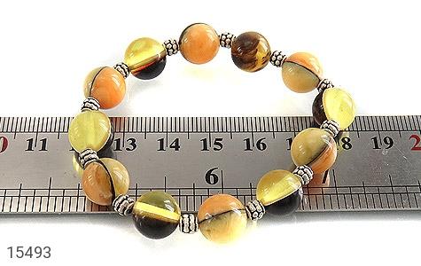 دستبند کهربا پودری خوش رنگ زنانه - تصویر 4