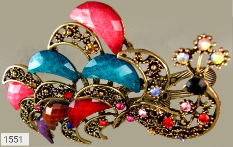 گل سر درشت طرح طاووس زنانه - تصویر 2