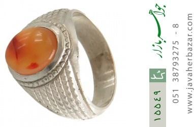انگشتر عقیق یمن حکاکی شرف الشمس رکاب دست ساز - کد 15549