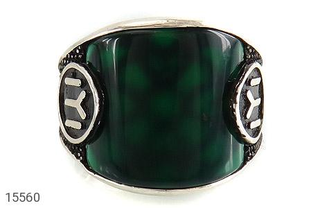 انگشتر عقیق سبز درشت - تصویر 2