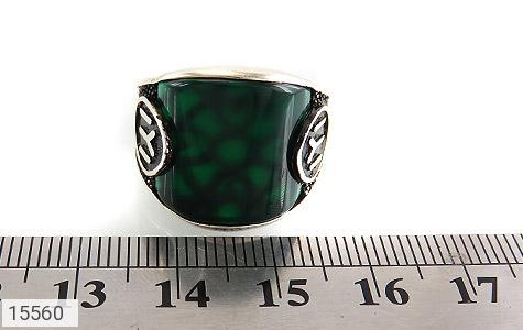 انگشتر عقیق سبز درشت - تصویر 6
