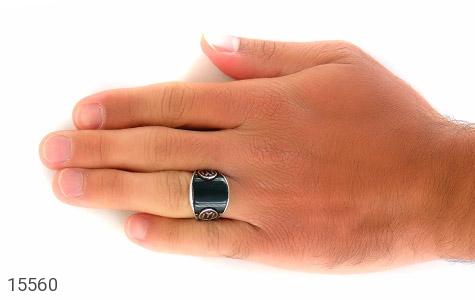 انگشتر عقیق سبز درشت - تصویر 8
