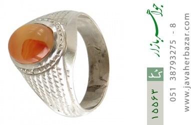 انگشتر عقیق یمن حکاکی شرف الشمس رکاب دست ساز - کد 15563