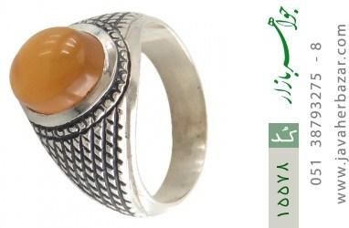 انگشتر عقیق یمن حکاکی شرف الشمس رکاب دست ساز - کد 15578