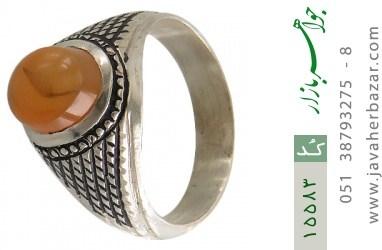 انگشتر عقیق یمن حکاکی شرف الشمس رکاب دست ساز - کد 15583