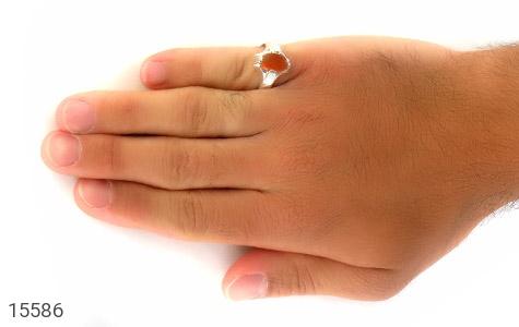 انگشتر عقیق یمن حکاکی شرف الشمس رکاب دست ساز - تصویر 8