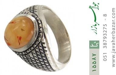 انگشتر عقیق یمن حکاکی شرف الشمس رکاب دست ساز - کد 15587