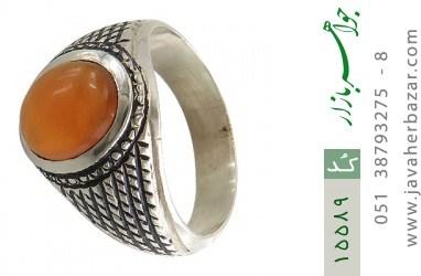 انگشتر عقیق یمن حکاکی شرف الشمس رکاب دست ساز - کد 15589