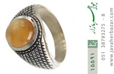 انگشتر عقیق یمن حکاکی شرف الشمس رکاب دست ساز - کد 15591