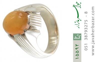 انگشتر عقیق یمن حکاکی شرف الشمس رکاب دست ساز - کد 15592