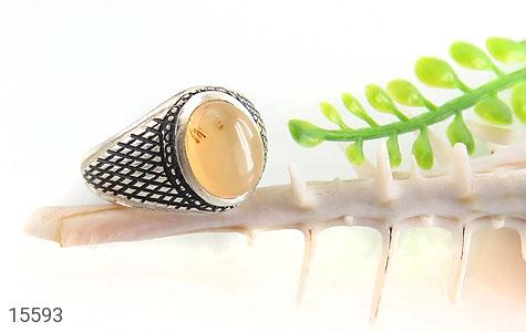 انگشتر عقیق یمن حکاکی شرف الشمس رکاب دست ساز - تصویر 6