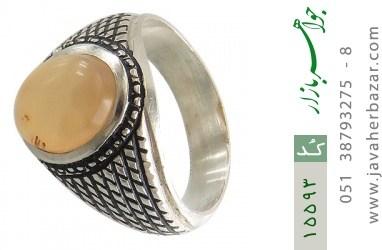 انگشتر عقیق یمن حکاکی شرف الشمس رکاب دست ساز - کد 15593