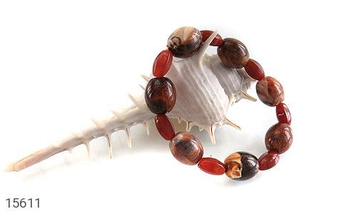 دستبند عقیق و دانه تزئینی زیبا زنانه - عکس 3