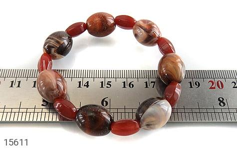 دستبند عقیق و دانه تزئینی زیبا زنانه - تصویر 4