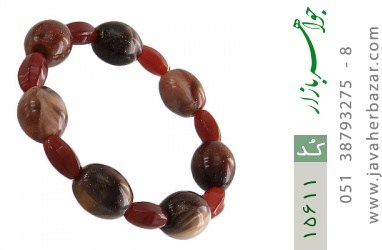 دستبند عقیق و دانه تزئینی زیبا زنانه - کد 15611