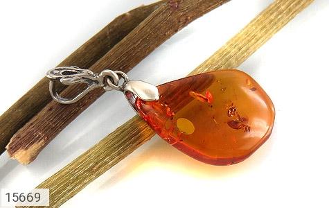 مدال کهربا لهستان بولونی حبابدار عسلی - تصویر 4