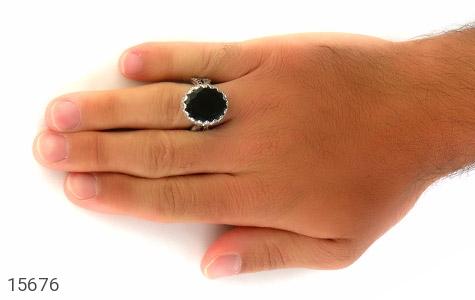 انگشتر یشم درشت تراش مردانه - تصویر 8