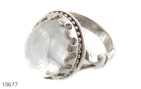 انگشتر دُر نجف درشت شفاف مردانه - عکس 1