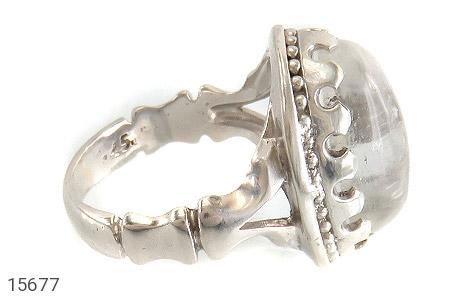 انگشتر دُر نجف درشت شفاف مردانه - عکس 3
