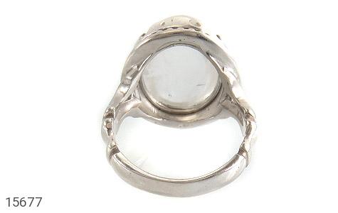 انگشتر دُر نجف درشت شفاف مردانه - تصویر 4