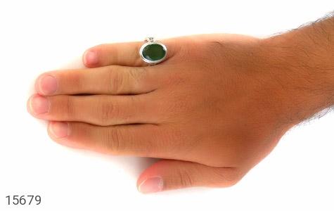 انگشتر یشم روشن تراش مردانه - تصویر 8