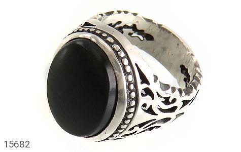 انگشتر یشم درشت خوش رنگ مردانه - عکس 1