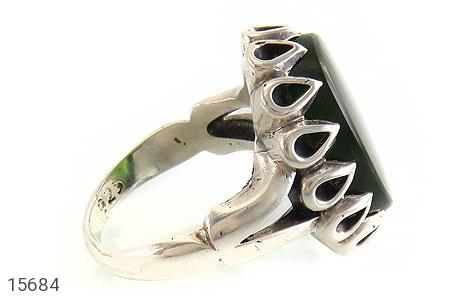 انگشتر یشم درشت شاهانه مردانه - عکس 3