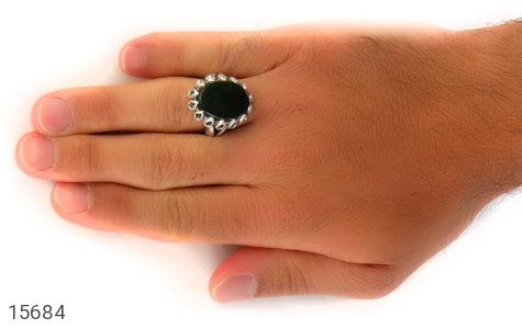 انگشتر یشم درشت شاهانه مردانه - تصویر 8