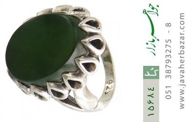 انگشتر یشم درشت شاهانه مردانه - کد 15684