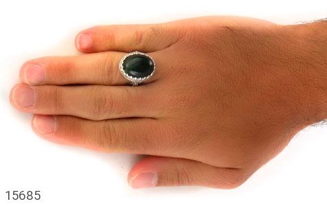 انگشتر یشم درشت فاخر مردانه - عکس 7