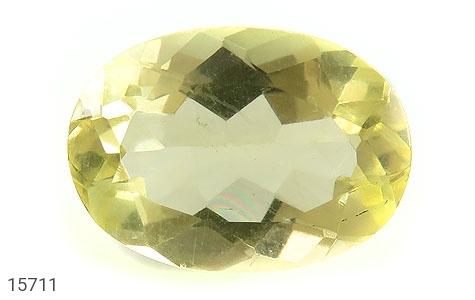 نگین تک توپاز زرد شفاف و درخشان - عکس 1