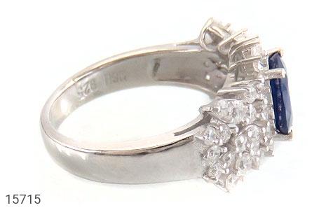 انگشتر یاقوت کبود طرح جواهری زنانه - عکس 3