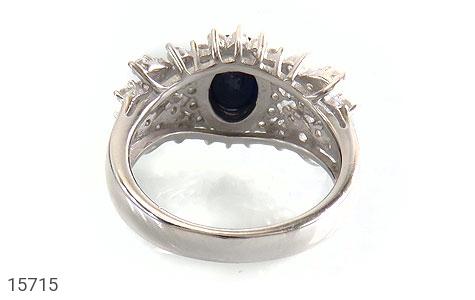 انگشتر یاقوت کبود طرح جواهری زنانه - تصویر 4
