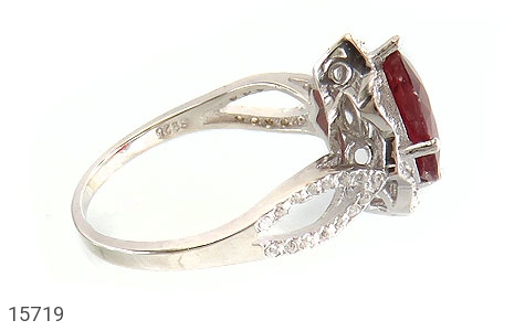 انگشتر یاقوت سرخ طرح گلاره زنانه - عکس 3