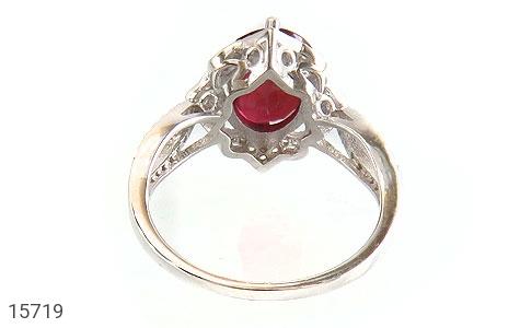 انگشتر یاقوت سرخ طرح گلاره زنانه - تصویر 4