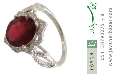 انگشتر یاقوت سرخ طرح گلاره زنانه - کد 15719