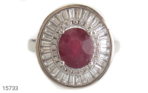انگشتر یاقوت سرخ طرح پرنسس زنانه - تصویر 2