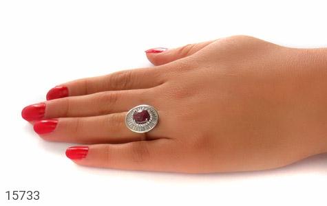 انگشتر یاقوت سرخ طرح پرنسس زنانه - عکس 7