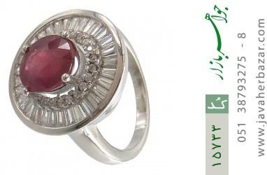 انگشتر یاقوت سرخ طرح پرنسس زنانه - کد 15733